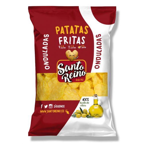 PATATAS FRITAS ONDULADAS ACEITE DE OLIVA CAJA 6 BOLSAS DE 230G